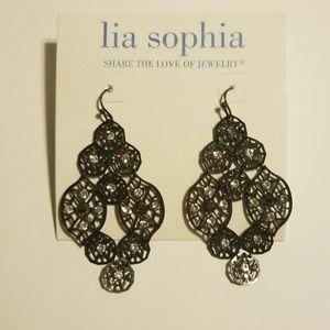Lia Sophia pierced chandelier earrings NWT